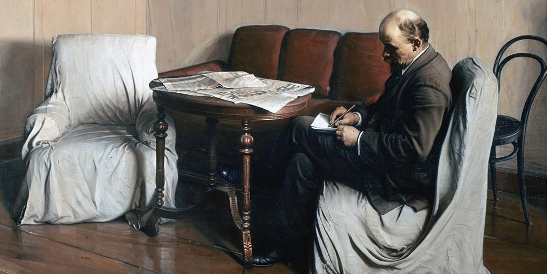 Lénine à Smolny, Isaak Izrailevich Brodsky, Moscou, Galerie Tretiakov