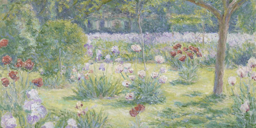 Blanche Hoschedé-Monet (1865-1947) : Le jardin de Claude Monet à Giverny [Claude Monet's garden in Giverny], held at Musée des Beaux-Arts, Rouen