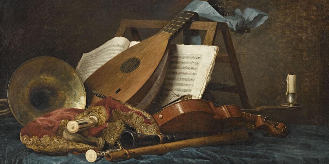 Attributs de la musique, Anne Coster, musée du Louvre