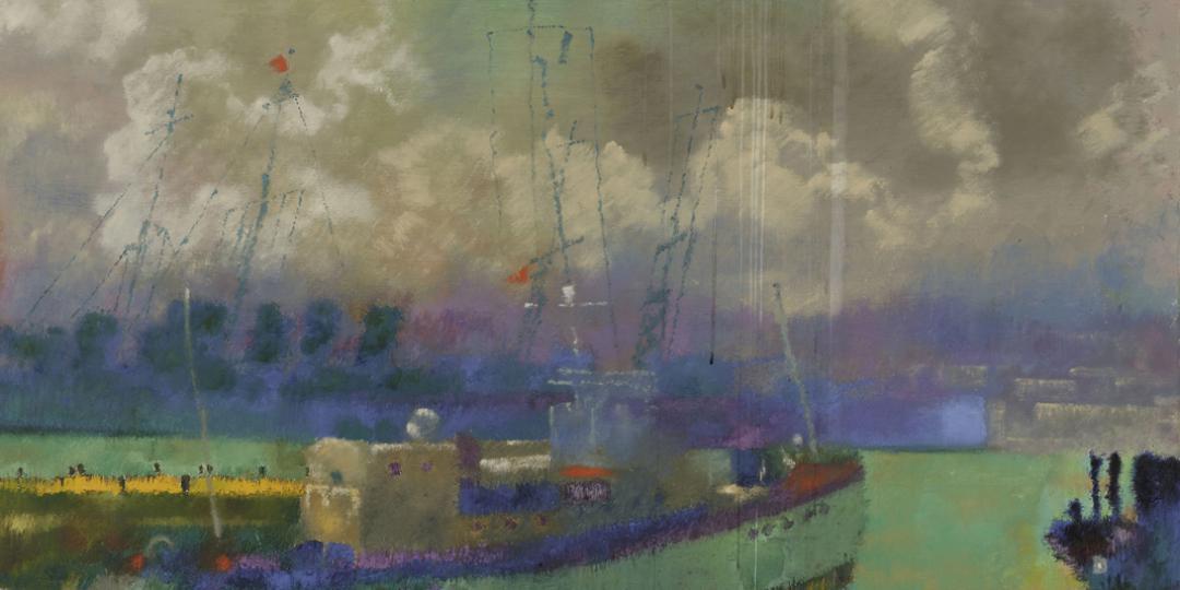 Augusto Giacometti (1877-1947) : Le port d'Alger, conservé au Centre Pompidou - Musée national d'art moderne - Centre de création industrielle