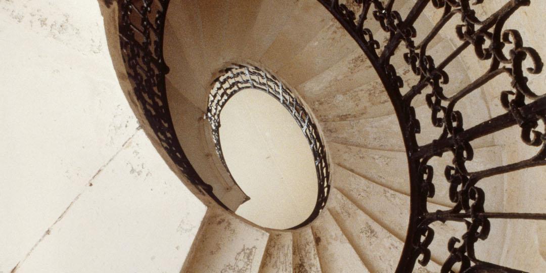 Escalier de l'Hôtel de Beauvais, Paris 4e, Rodolphe Hammadi, Paris, Centre Pompidou - Musée national d'art moderne - CCI