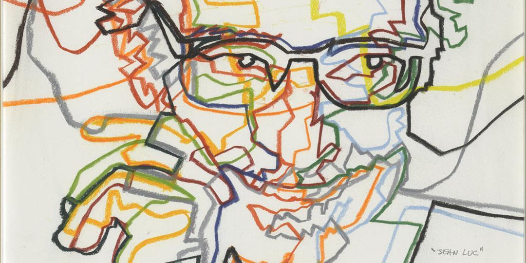 Jean-Luc (Portrait de Jean-Luc Godard), Gérard Fromanger, Paris, Centre Pompidou - Musée national d'art moderne - CCI