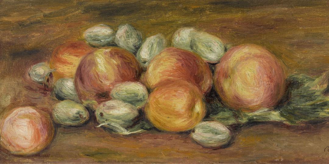Nature morte pommes et amandes, Auguste Renoir