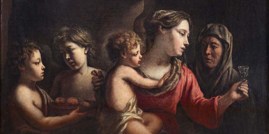 La Vierge au verre de vin, Mathieu Le Nain. Musée des Beaux-Artsde Rennes