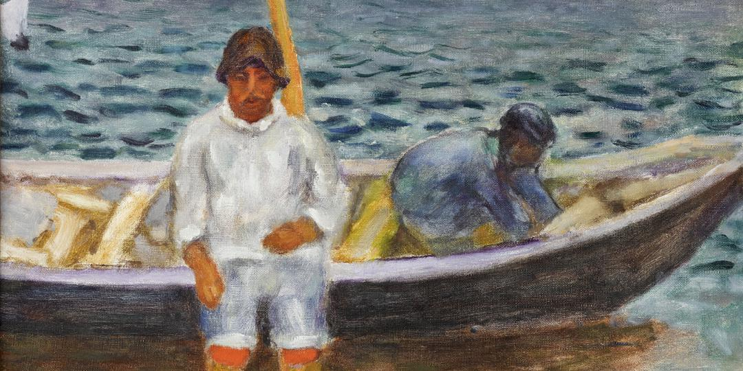 Pierre Bonnard (1867-1947) : •Les Pêcheurs [The fishermen], held at Fondation Bemberg, Toulouse