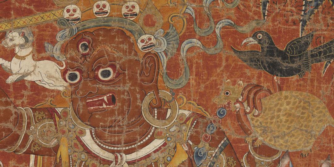 Dharmapala, divinité gardienne de la Doctrine, musée du quai Branly - Jacques Chirac