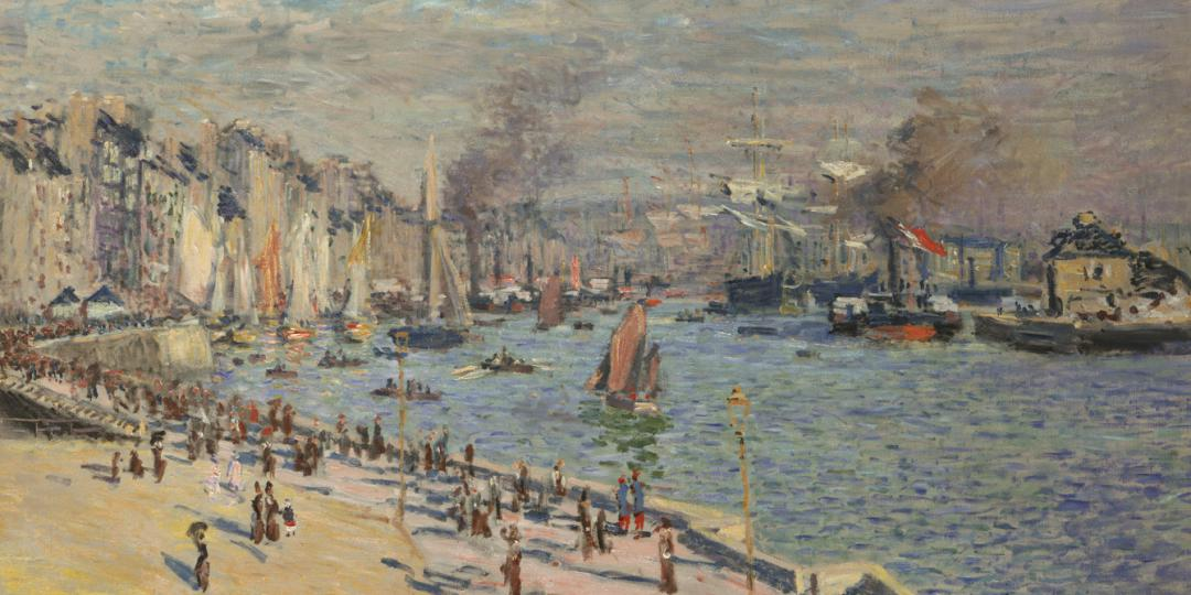 Le Havre port, Claude Monet, United States, Philadelphia Museum of Art