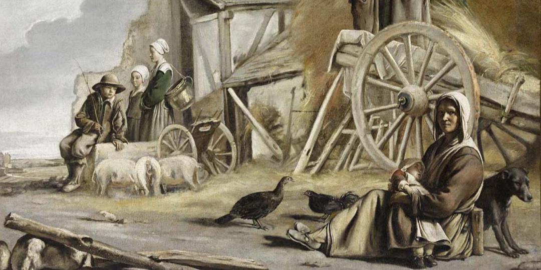 La charrette ou le retour de la fenaison, Louis Le Nain. Musée du Louvre