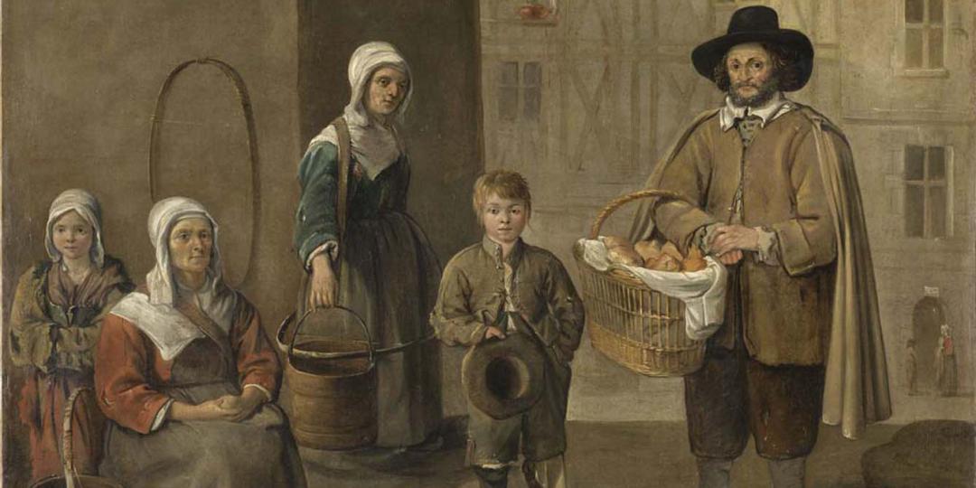 Le Marchand de pains et les porteuses d'eau, Jean Michelin. Musée du Louvre