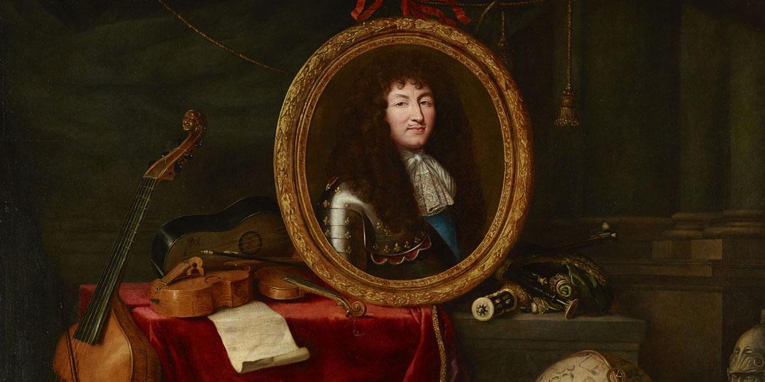 Allégorie à Louis XIV, protecteur des Arts et des Sciences - Jean Garnier d'après Claude Lefebvre, Chäteaux de Versailles et du Trianon