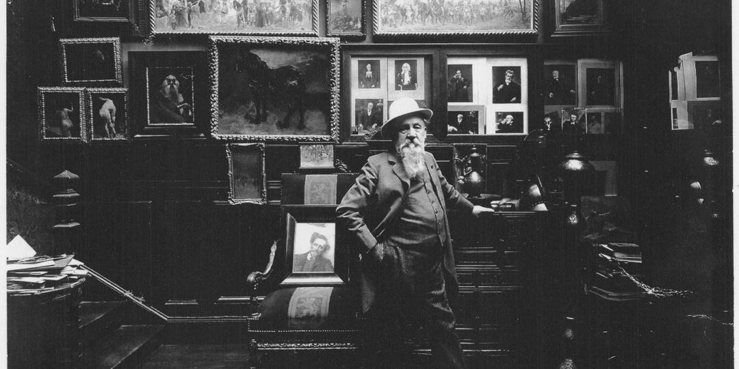 Henri Manuel (1974-1947) : Le peintre J.J. Weerts dans son atelier rue d'Amsterdam à Paris [The painter J.J. Weerts in his studio on Rue d'Amsterdam, Paris], held at La Piscine, Musée d'Art et d'Industrie André Diligent