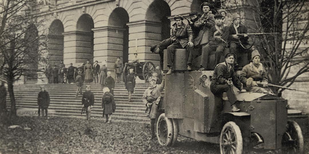 Les Gardes Rouges en service devant L'Institut Smolny, Piotr Otsup, Londres, Tate Collection