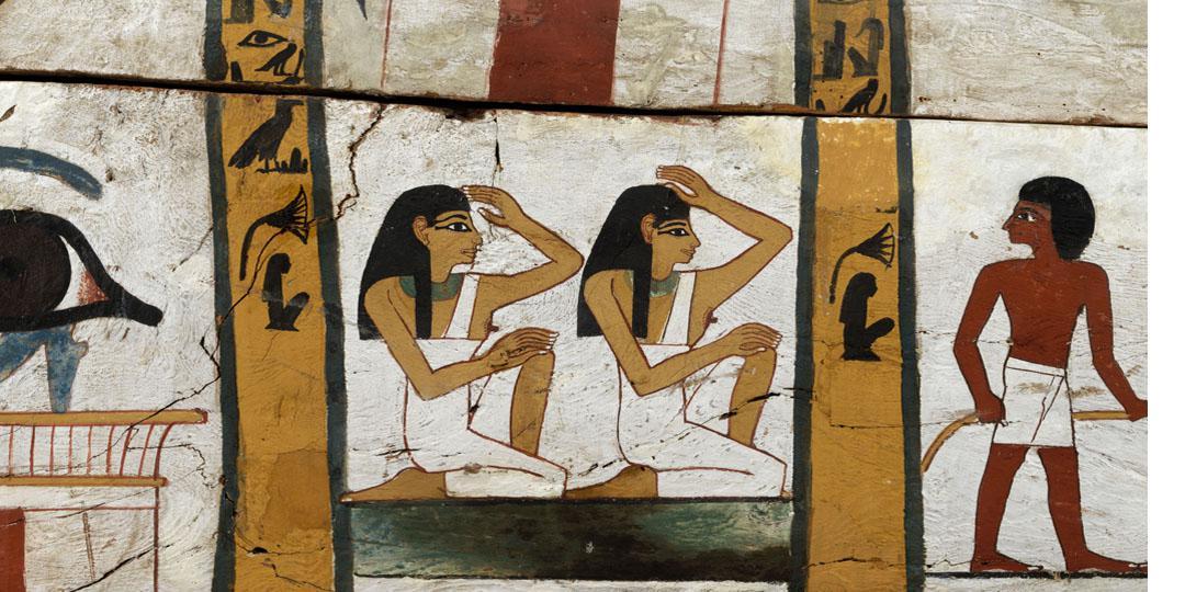 Cercueil de la dame Madja : la dame et son époux, Paris, musée du Louvre