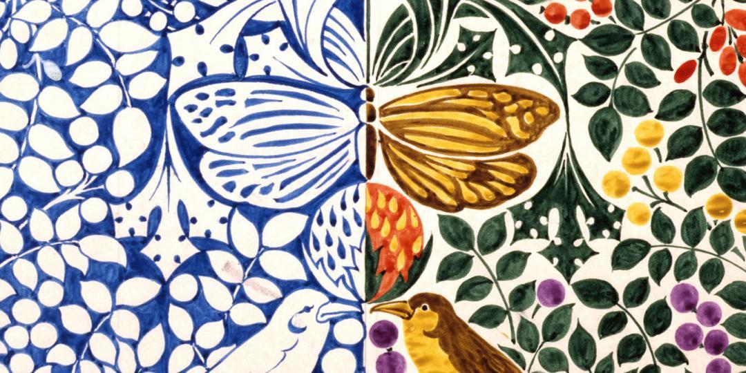 Oiseau et papillons, Charles-Francis-Annesley Voysey, Royaume-Uni, Londres, Victoria and Albert Museum