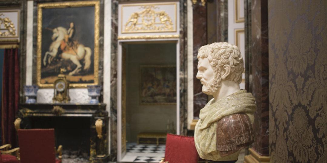 salon tableau portrait équestre de Louis XIV