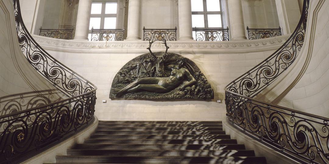 Grand escalier Mollien, Hector Lefuel, Paris, musée du Louvre