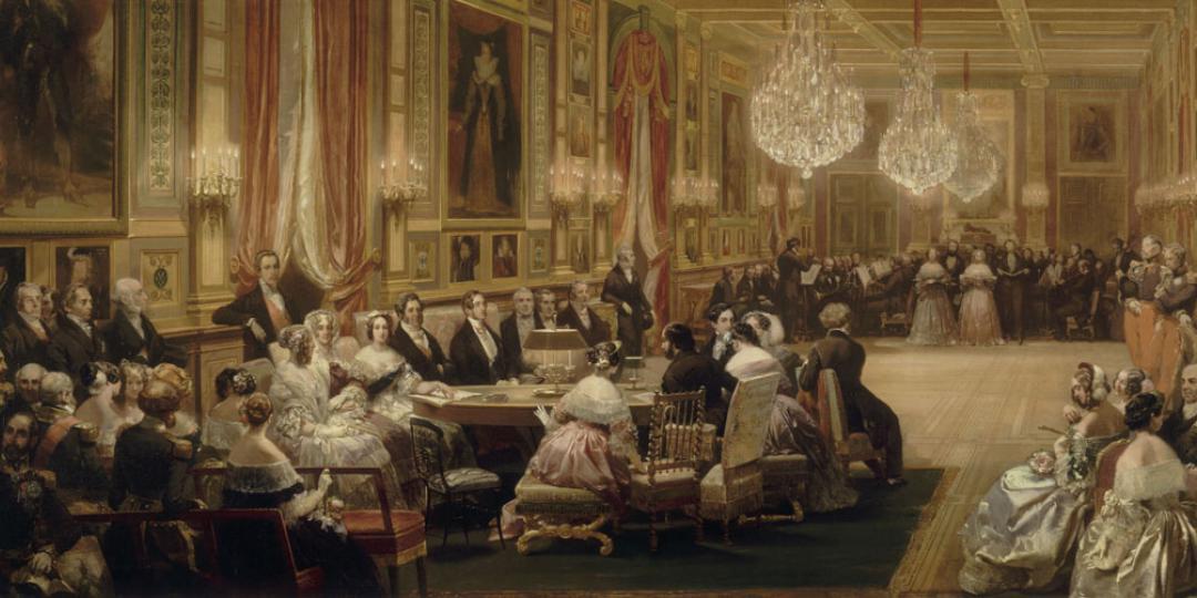 Concert donné dans la galerie des Guise au château d'Eu, le 4 septembre 1843, Eugène Lami, Versailles, châteaux de Versailles et de Trianon