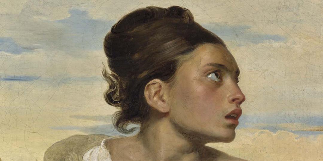 Jeune orpheline au cimetière, Delacroix