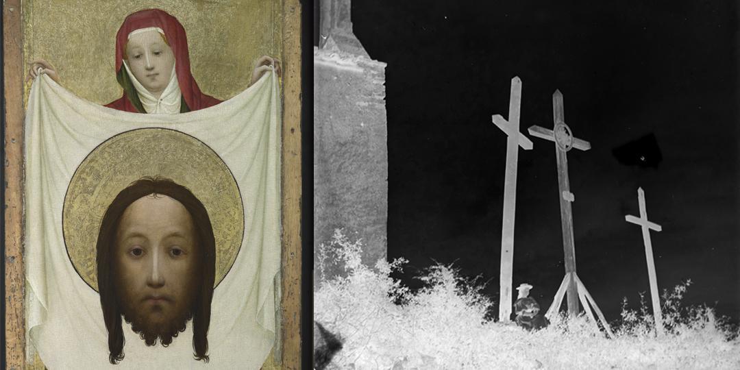 Sainte Véronique au Sudarium Maître de Sainte Véronique de Munich - National Gallery Londres - Le calvaire, à Saint-Antonin Galup Amélie - Médiathèque de l'Architecture et du Patrimoine