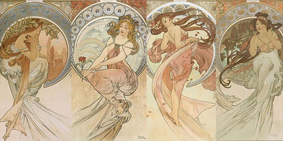 The Arts: Poetry, Painting, Dance and Music, Alfonse Mucha, Bibliothèque nationale de France (BnF)