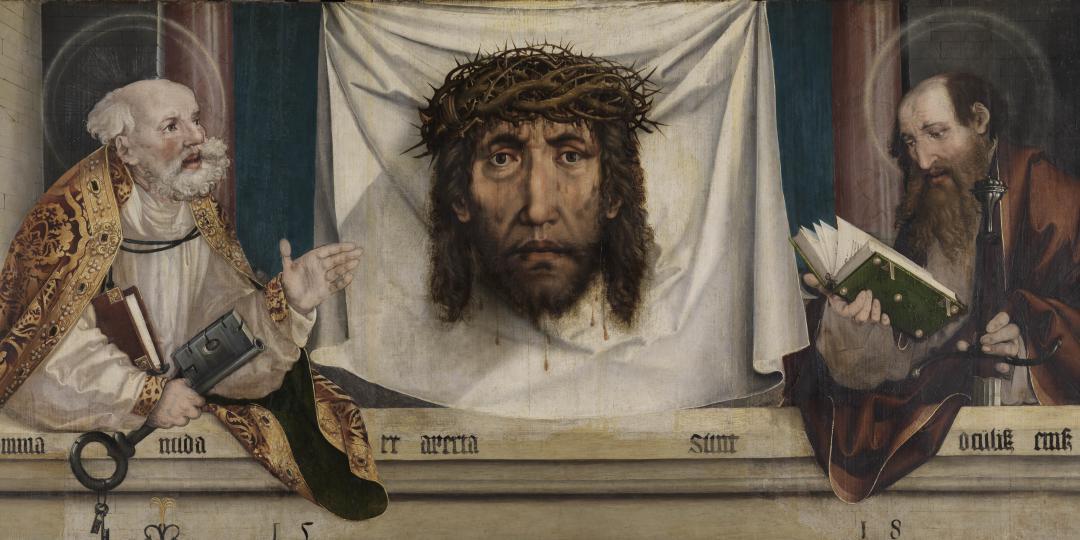 Saint Pierre et saint Paul avec le voile de Véronique (Vera Icon) Schaffner Martin